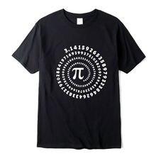 Мужская футболка из 100% хлопка с коротким рукавом математическим