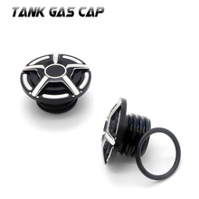 Tank Fuel Gas Cover Oil Cap For Harley Davidson Sportster XL 1200 883 X48 Dyna Moto Motorcycle Accessories CNC Aluminum