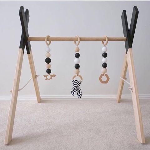 estilo nordico decoracao do quarto do bebe jogar ginasio brinquedo de madeira bercario sensorial presente