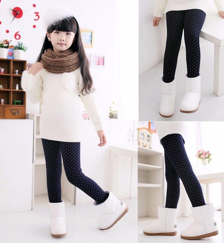 VEENIBEAR Warm Winter Girls Leggings Plus Velvet Girls Pants Kids Children Pants Girls Winter Clothing 2-7T 2