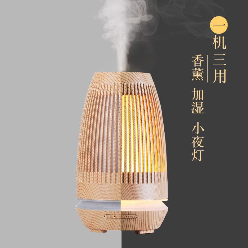 Electric Incense Burner Aroma Lamp Night Light Bedroom Ultrasonic Air Humidifier Office Incense Burner Home Decoration MM60XXL