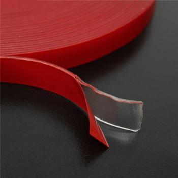 Taśma dwustronna przezroczysta przezroczysta pianka akrylowa taśma samoprzylepna Ultra High Strength akrylowa taśma montażowa szerokość 6 8 10 12 15MM tanie i dobre opinie CN (pochodzenie) Metalworking Double-sided Tape Sticker Taśma elektryczna acrylic 6MM 8MM 10MM 12MM 15MM 300°F (149°C)
