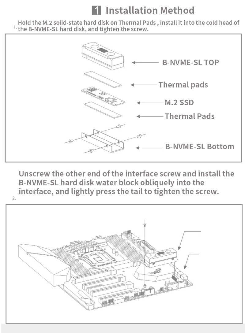 BYKSKI, bloque Memoy M.2 para SSD, disco duro de cobre + sistema de refrigeración de agua acrílico transparente, radiador