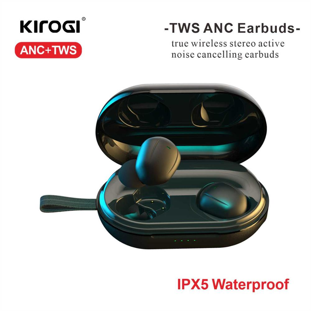 Active Noise Cancelling True Wireless Earbuds ANC <font><b>TWS</b></font> bluetooth <font><b>5.0</b></font> in-Ear Earphones and Charging Case for Sports image