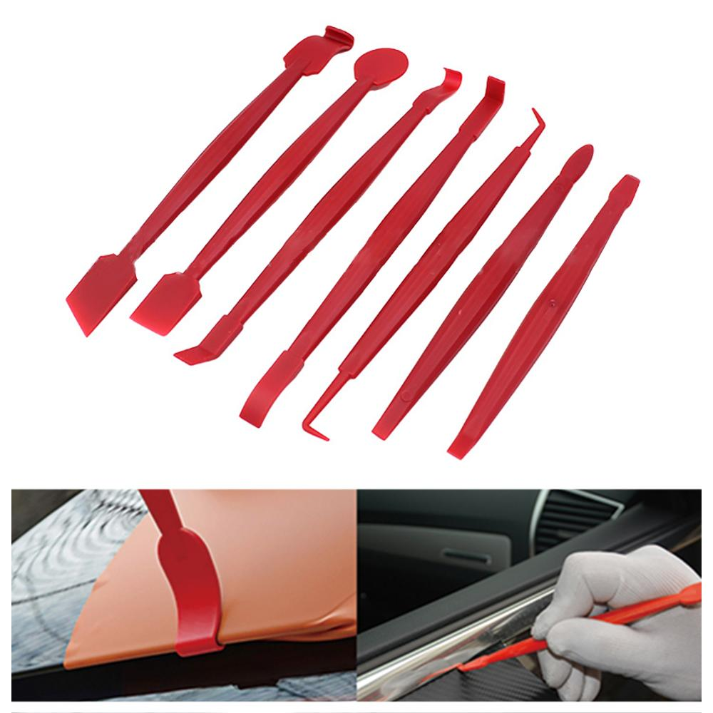 7pcs/set Car Vinyl Wrap Film Squeegee Scraper Tools Edge-closing Tool For Automobile Film Sticking Car Styling Auto Accessories