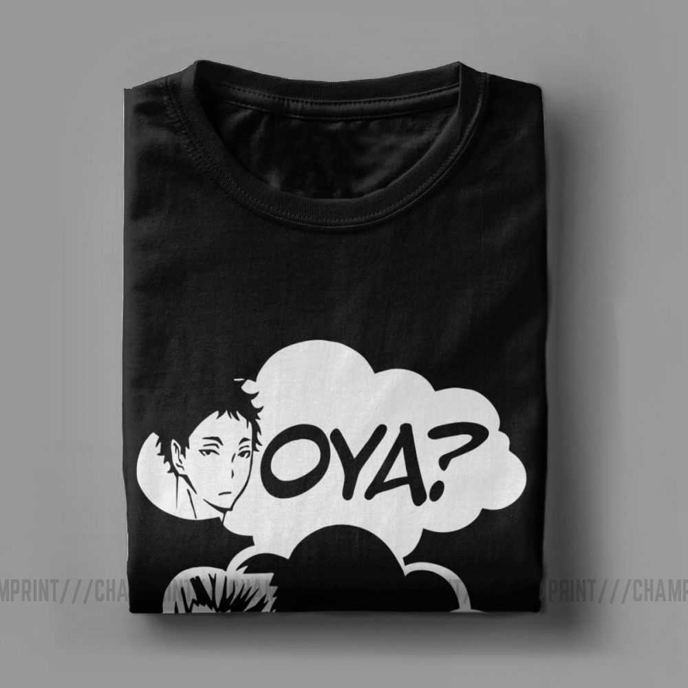 Oya Oya Oya Haikyuu Mannen T-shirt Kuroo Anime Bokuto Manga Shoyo Volleybal Creatieve Tee Shirt Korte Mouw T-shirt 100% katoen