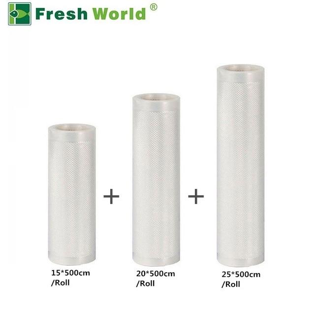 Vacuum Seal Bags Roll For Food Storage Packing Sealing Machine BPA-free 3 Rolls / set Vaccum Bag Vacuum Sealer Rolls