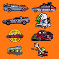 Спортивный автомобиль эмаль на булавке для всей семьи туда и обратно металлическая брошка мультфильм рюкзак шапку свободный воротник нагр...