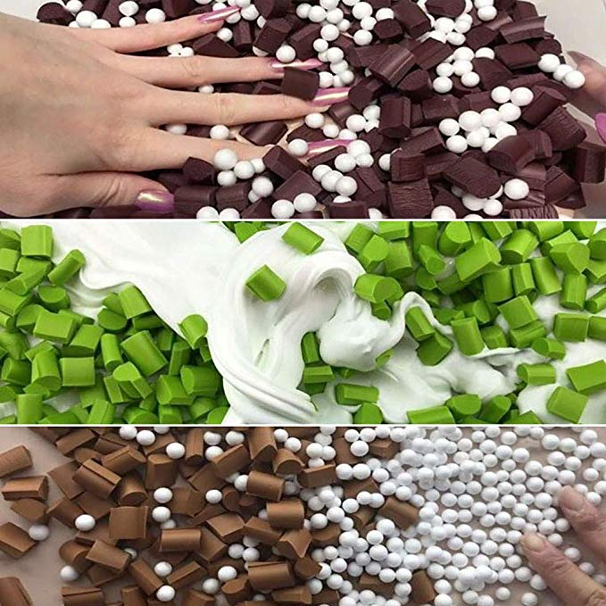 Soft Foam Chunks Beads Filler Slime Tool Supplies 70pcs DIY Toys Fluffy Mud slime Decoration for Kids Adults Party Gift