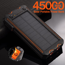 Batterie de secours solaire de capacité élevée de 45000mah avec l'allume-cigare chargeant le chargeur extérieur de secours de paupérine Double 2USB