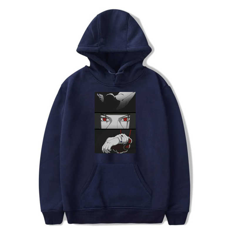 Harajuku Anime Cartoon Naruto Uchiha Itachi Casual Hoodies Männer Japanischen Comic Swag Drucken Unisex Tops Streetwear männer sweatshirt
