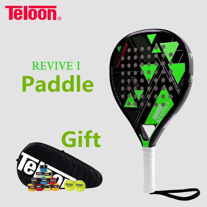 Teloon Tennis raquette pleine carbone tissé plage tenis RacqetsTop qualité K058SPA