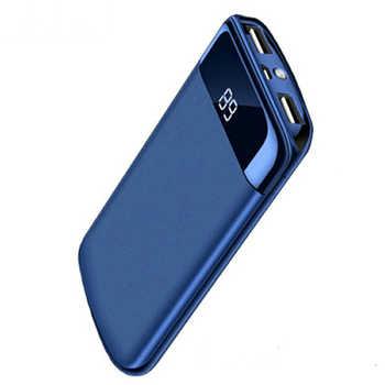 20000mah batterie externe batterie externe pauvreté banque 2 USB LED Powerbank Portable chargeur de téléphone Portable pour Xiao mi mi iphone 7 8 Huawei