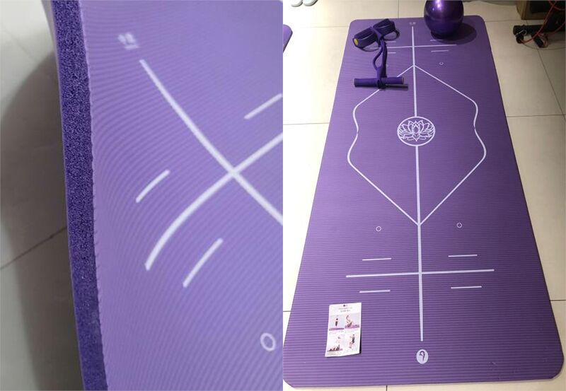 10mm Yoga Mat for Beginner with Position Line Non-slip Gym Yoga Mat Thicken Widen Men Women Yoga Exercise Dance Fitness Mat 28