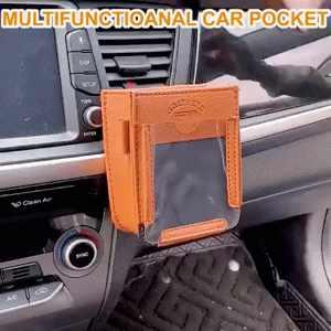 Auto multifunzionale Tasca Touchable Mobile Pocket Automotive Air Vent Telefono Mobile Del Sacchetto di Immagazzinaggio di Cornici E Articoli Da Esposizione Porta Accessori Auto