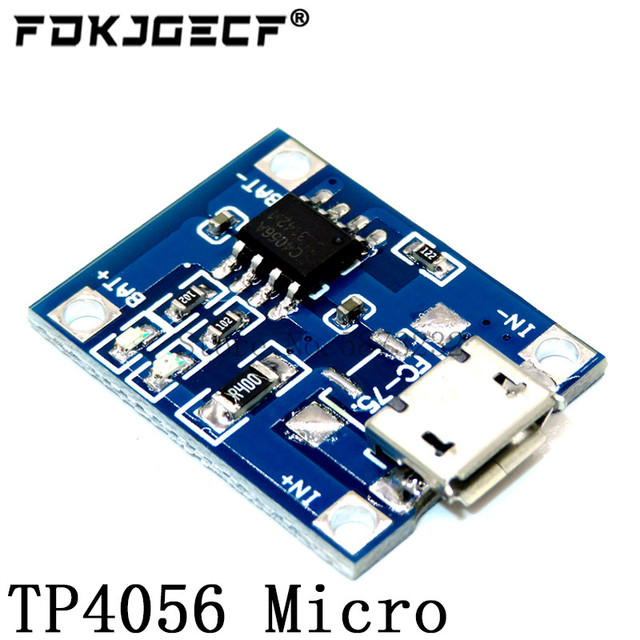 10Pcs Micro Type-c USB 5V 1A 18650 TP4056 Lithium Battery Charger Module Charging Board With Protection Dual Functions 1A Li-ion 2
