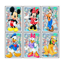 Disney Family Mickey Mouse Donald Duck Cartoon Image Poster Painting On Canvas Prints Wall Art Picture For Kid Room Decoration
