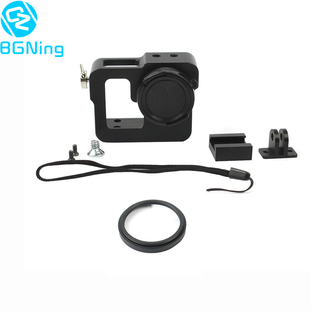 CNC Protective Housing Case Protector Shell with Lens Cap and UV 37mm Lens for Gopro 2 /3 / 3+ / 4 for EKEN Sports Camera