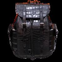 Authentic Crocodile Belly Skin Drawstring Closure Men's Travel Backpack Genuine Alligator Leather Mele Large Top handle Bag Pack