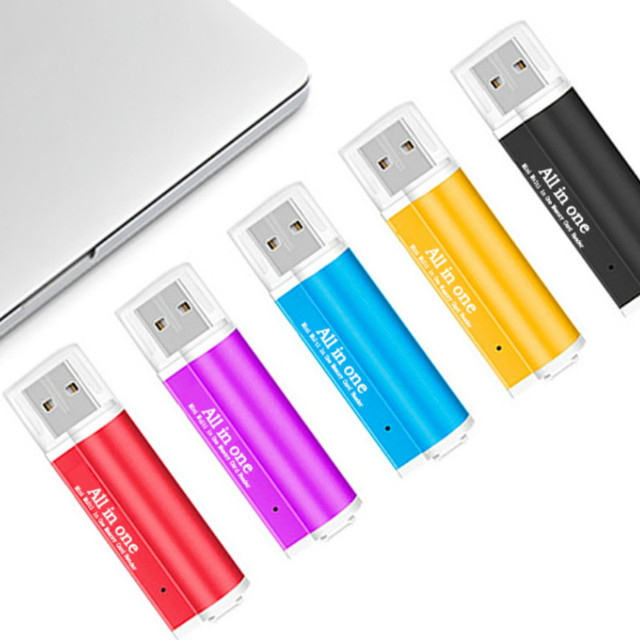 4 In 1 USB Card Reader Flash Drive High speed USB2.0 Universal OTG TF/SD Card for Computer Extension Headers Card Readers