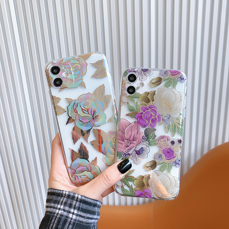 Rose Phone Case Floral iPhone 12 Max Case Flowers iPhone 11 Pro Case For Women Xs Max iPhone Case iPhone Xr Case iPhone Case iPhone 8 AN0020