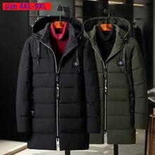הגעה חדשה ארוך גברים גדול במיוחד החורף רופף מרופד מקרית עבה Mens הסווטשרט מעיל בתוספת גודל 4XL 5XL 6XL 7XL 8XL 9XL
