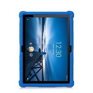 Image 1 - סיליקון מקרה עבור Lenovo חכם Tab P10 TB X705F ילדים עמיד הלם Tablet סטנד כיסוי עבור Lenovo Tab M10 TB X605F 10.1 פגוש מקרה