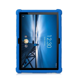 Image 1 - Siliconen Case Voor Lenovo Smart Tab P10 TB X705F Kids Shockproof Tablet Stand Cover Voor Lenovo Tab M10 TB X605F 10.1 Bumper case
