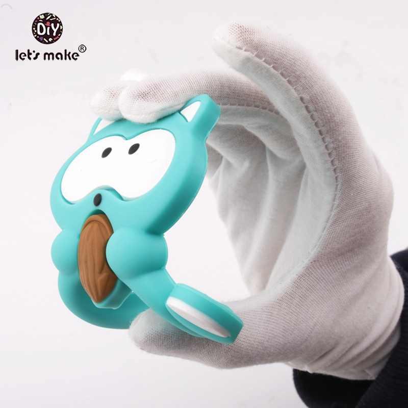 Mordedor para bebé de silicona de grado alimenticio roedor forma De León Diy cadena chupete Bpa juguete de dentición libre para dientes mordedor de silicona de Navidad