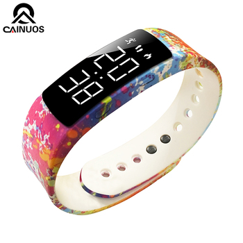 CAINUOS Women Bracelet Watch Sport Smartwatch Digital Alarm Lady Clock Calorie Fitness Wristwatch Sport Ladies Watches for women