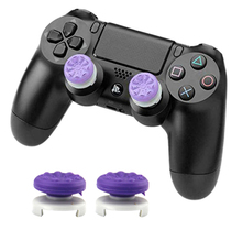 2Pcs Hand Grip Extenders Caps for PS4 Controller Performance Thumb Grips High-Rise Covers For Playstation 4 Low-Rise Cover