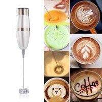 Elektrische Handheld Milchaufschäumer Schäumer Schneebesen Doppel Frühling Triple Frühjahr Schneebesen Kopf Edelstahl Trinken Mixer Kaffee Maker-in Lebensmittel-Mixer aus Haushaltsgeräte bei