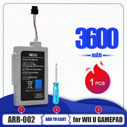 1PCS For Wii U Gamepad 3.7V 3600mAh Lithium Li-ion Rechargeable Battery Pack For Nintendo Wii U Controller Game Console Bateria