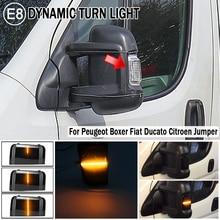For Peugeot Boxer Fiat Ducato Citroen Jumper 2016 2019 Car Side Rearview Mirror Turn Signal Light Dynamic Blinker Indicator