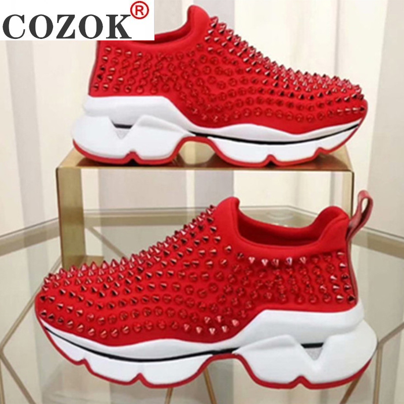 Women Sneakers 2020 Fashion Superstar slip-on Rivet Platform Sneakers Woman seasons sports shoes Comfortable Tennis shoes