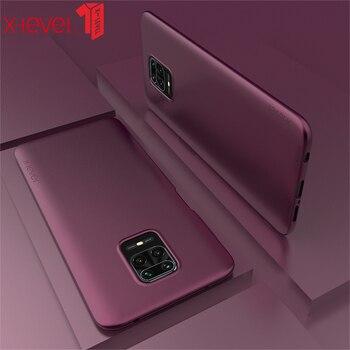 For Redmi Note 9s Phone Case X-level Minimalist Thin Soft Tpu Matte Protective Back Cover For Redmi Note 9 Pro Max Case Wine Red