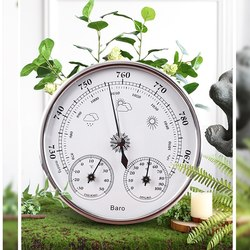 Temperature Humidity Gauge Indicator Wall Hanging Weather Station Barometer Thermometer Hygrometer