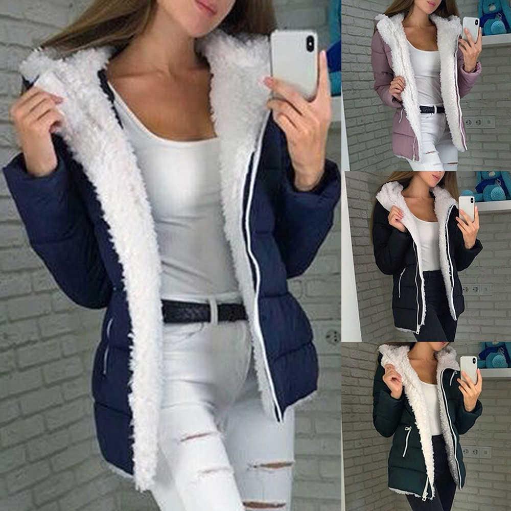 付きジャケット Streetwears 長袖パーカー新ファッション暖かい Outwears 女性冬の厚みプラスサイズ Mujer パーカー