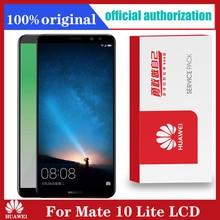 Оригинальный дисплей 5,9 дюйма с рамкой для замены для Huawei Mate 10 Lite, ЖК дисплей с сенсорным экраном и дигитайзером в сборе Nova 2i RNE L21