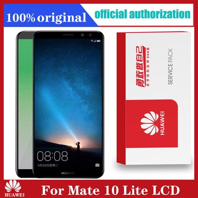 Original 5.9 จอแสดงผลกรอบสำหรับHuawei Mate 10 Lite LCD Touch Screen Digitizer Assembly Nova 2i RNE L21