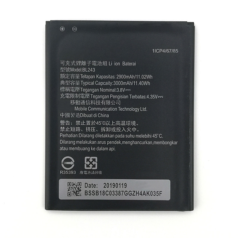In Stock 100% NEW BL243 2900mAh Battery For lenovo K3 Note K50-T5 A7000 A5500 A5600 A7600 New produce High quality battery image