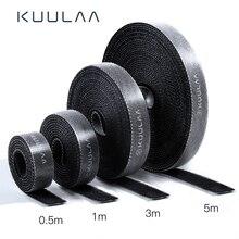 KUULAA Кабельный органайзер длина usb-шнур намотка для телефона держатель для наушников шнур мышки протектор 1 м/3 м/5 м кабель управление