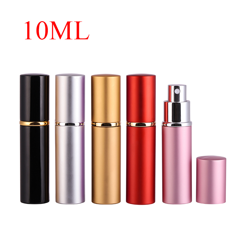 10MLNew Mini Portable For Travel Aluminum Refillable Perfume Bottle With Spray&Empty Cosmetic Containers With Atomizer Hot Sale