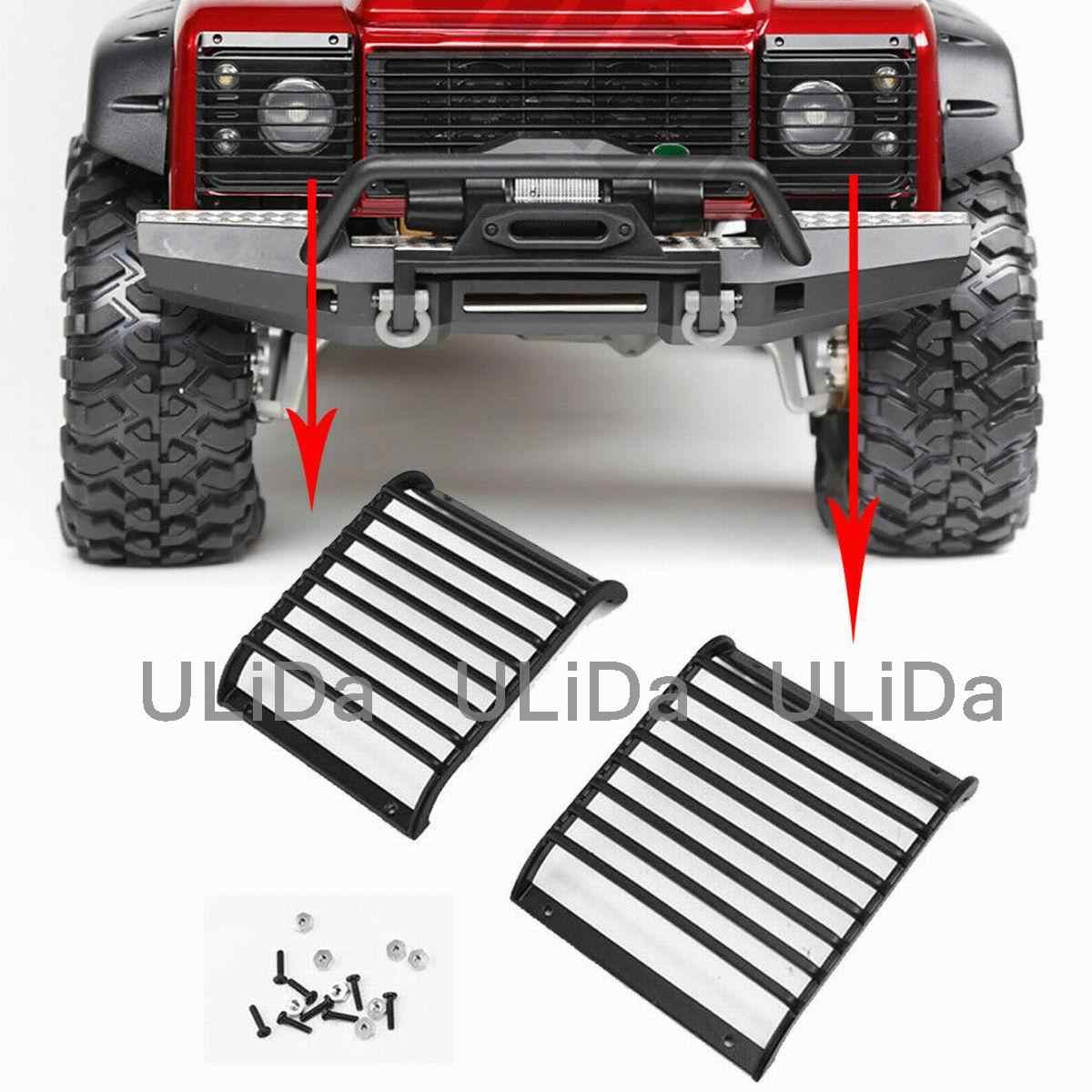 2pcs Black Front Head Engine Hood Hinges Covers for  TRX4 1//10 RC Car