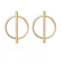 Wholesale Korean New Geometric Circle Stud Trendy Gold Earrings For Women Accessories Fashion Jewelry Oorbellen Brincos артур конан дойл архив шерлока холмса