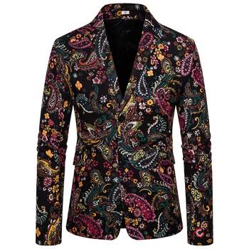 Miły dodatek produkty nowa moda męska w jesienno-zimowej Retro nadruk płaszcz wierzchni moda ciepły płaszcz moda moda mężczyzna Wo tanie i dobre opinie GELITAYIN Pojedyncze piersi Ścięty Men s Coats Jackets Pełna REGULAR Na co dzień