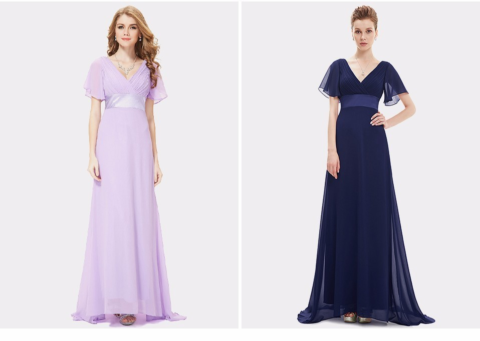 Glamorous Double V-Neck Ruffles Padded Evening Dress 2