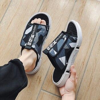 2020 Summer Fashion Sandals Beach Slippers For Mens Flip Flops Casual lightweight Breathable Glodiator Canvas Sandalias Hombre