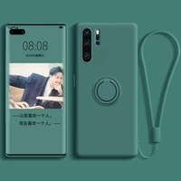 Funda de teléfono para Huawei Nova Honor 5 5i Pro 6, 4G, 5G, 7 SE, 7I, 5T, 20, 20S, de lujo, magnética, silicona líquida, anillo de soporte, Correa