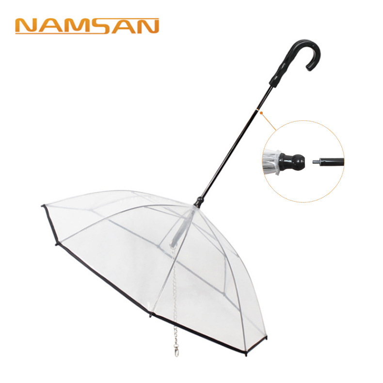 Transparent Pet Umbrella Dog Umbrella Pet Supplies Assembly Umbrella Rainy Day Dog Hand Holding Rope